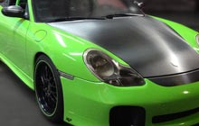 Green sports car using Easy Apply Films