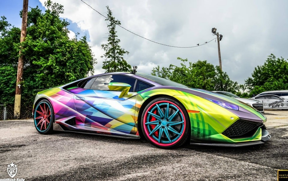 Sports car wrapped with Supreme Wrapping Film